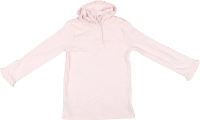Parv Collections Casual Full Sleeve Solid Baby Girl's Pink Top