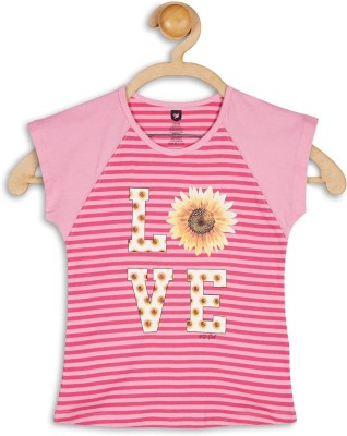 612 League Casual Cap sleeve Striped Girl's Pink Top