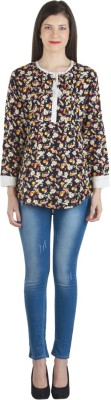 Fashionholic Casual Full Sleeve Floral Print Women's Multicolor Top