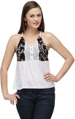 ColorsCo Casual Sleeveless Solid Women's Black Top