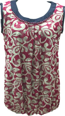 Dovekie Casual Sleeveless Printed Women's Pink Top