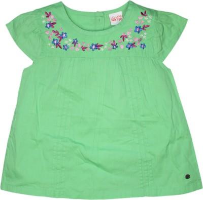 FS Mini Klub Casual Short Sleeve Solid Girl's Light Green Top