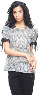 HANGNHOLD Casual Short Sleeve Printed Women's Multicolor Top