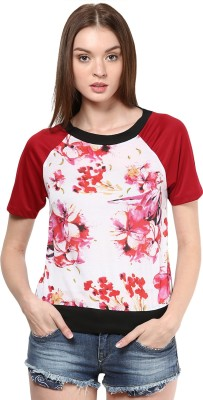 Golden Couture Casual, Festive, Formal, Party Short Sleeve Printed Women's Multicolor Top
