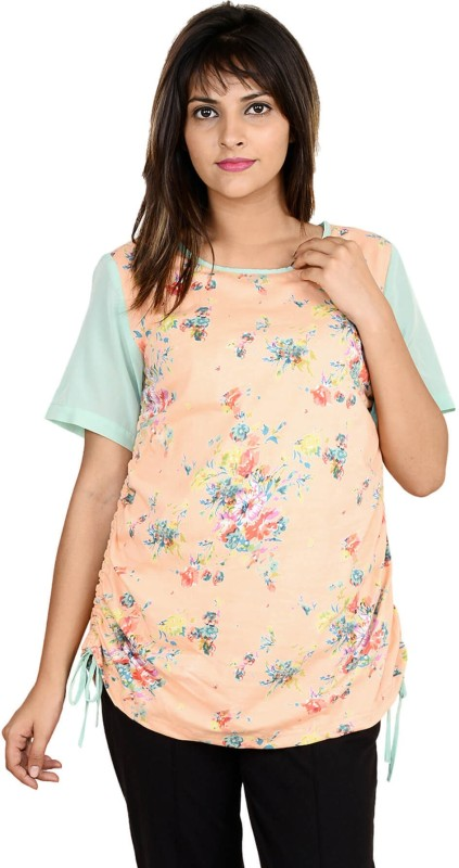 9teenAGAIN Casual Short Sleeve Printed Women's Pink Top