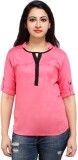 Styles Clothing Casual 3/4th Sleeve Soli...