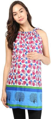 Mine4Nine Casual Sleeveless Printed Women's Multicolor Top