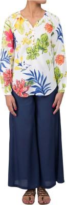Ratan Jaipur Casual Full Sleeve Floral Print Women's Multicolor Top