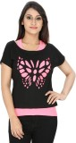 Franclo Party Butterfly Sleeve Self Desi...