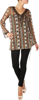 Karmik Casual Full Sleeve Printed Women's Multicolor Top