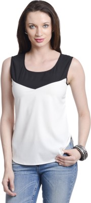 Today Fashion Casual Sleeveless Solid Women's White Top