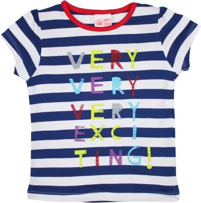 FS Mini Klub Casual Short Sleeve Striped Girl's Dark Blue Top