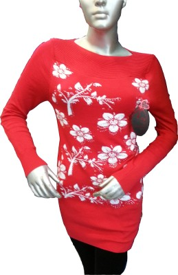 Emporer Casual Full Sleeve Printed Women's Red Top