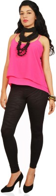 Isadora Casual Sleeveless Solid Women's Pink Top