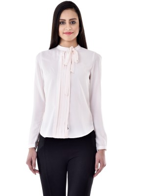 Colors Couture Casual Full Sleeve Solid Women's Pink Top