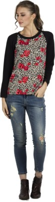 109F Casual Full Sleeve Printed Women's Multicolor Top