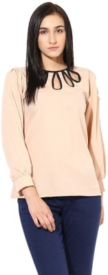 La Firangi Casual Full Sleeve Solid Women's Beige Top