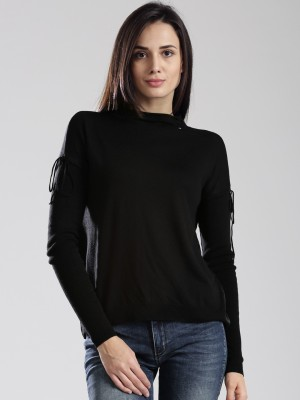 GAS Casual Full Sleeve Solid Women's Black Top