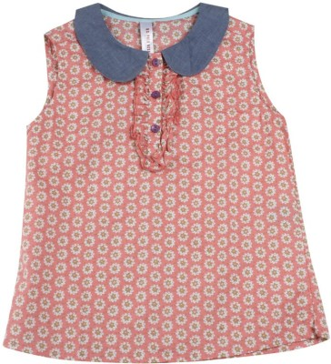 U.S. Polo Assn. Casual Sleeveless Printed Girl's Pink Top
