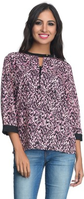 Rare Party 3/4 Sleeve Animal Print Women's Multicolor Top