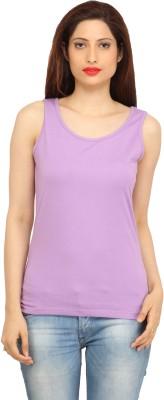 BepoyZ Casual Sleeveless Solid Women's Purple Top