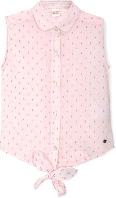 FS Mini Klub Casual Sleeveless Woven Girl's Pink Top