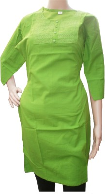 AminQuest Casual, Formal 3/4 Sleeve Self Design Women's Light Green Top