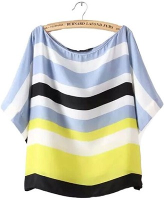 Gifts & Arts Casual Short Sleeve Printed Women,s Multicolor Top
