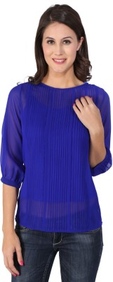 Vteens Casual 3/4 Sleeve Striped Girl's Blue Top