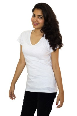 The Clove Casual Short Sleeve Solid Women's White Top