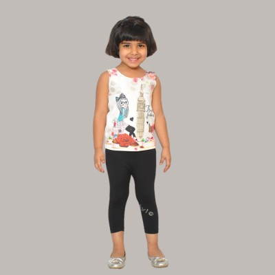 SD Party Sleeveless Self Design Girl's Multicolor Top