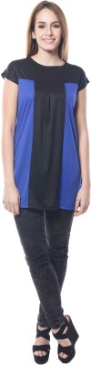 Maxi Fashion Casual Sleeveless Solid Girl's Black, Blue Top