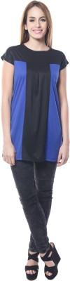 Dolla Casual, Festive, Formal, Lounge Wear, Party, Sports, Wedding Cap sleeve Solid Women's Black, Blue Top