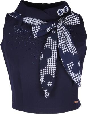 Cutecumber Party Sleeveless Embellished Girl's Blue Top