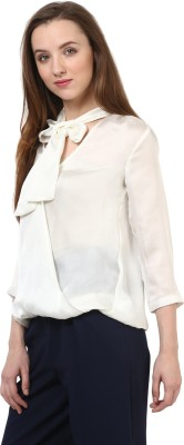 Rare Casual 3/4 Sleeve Solid Women's White Top