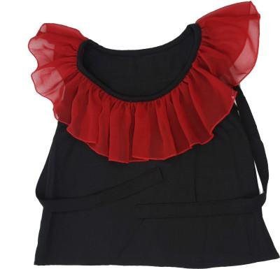 Kidzblush Casual Sleeveless Solid Girl's Black, Red Top