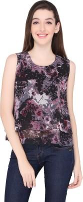 Ten on Ten Casual Sleeveless Printed Women's Multicolor Top