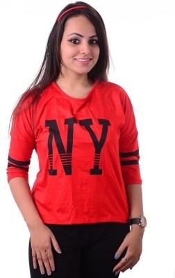Shivi's Designer Studio Formal 3/4 Sleeve Printed Women's Multicolor Top