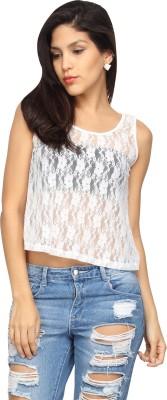 Americanlaundry Casual Sleeveless Embroidered Women's White Top