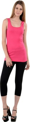 NumBrave Casual Sleeveless Solid Women's Pink Top