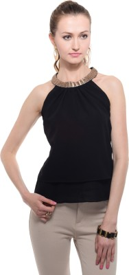 A Luv Ya Party Sleeveless Solid Women's Black Top