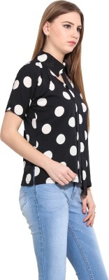 Desi Urban Casual Sleeveless Solid Women's Black Top