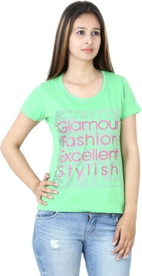 Groviano Casual Short Sleeve Printed Women's Light Green Top