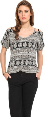 Rena Love Casual Short Sleeve Printed Women's Multicolor Top