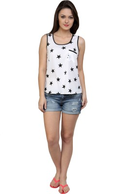 Jake Chiramel Casual Sleeveless Printed Women's Multicolor Top