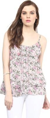 Rose Vanessa Casual Sleeveless Printed Women's Multicolor Top