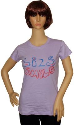 Sarva Casual Short Sleeve Printed Women's Purple Top