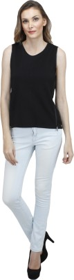 Pab Jules Casual Sleeveless Solid Women's Black Top