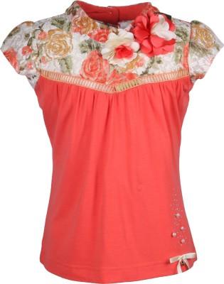 Cutecumber Party Sleeveless Embellished Girl's Orange Top