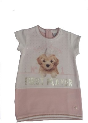 Bisbasta Party 3/4 Sleeve Graphic Print Baby Girl's Pink Top
